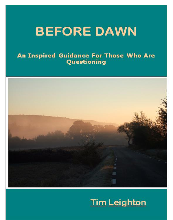 Cover of BEFORE DAWN An Inspired Guidance For Those Who Are Questioning