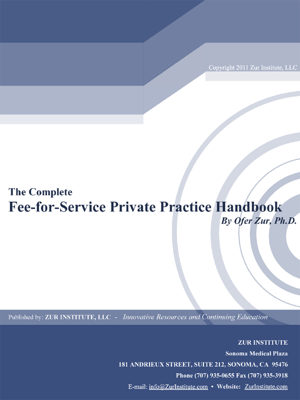 Cover of The Complete Fee-For-Service Private Practice Handbook