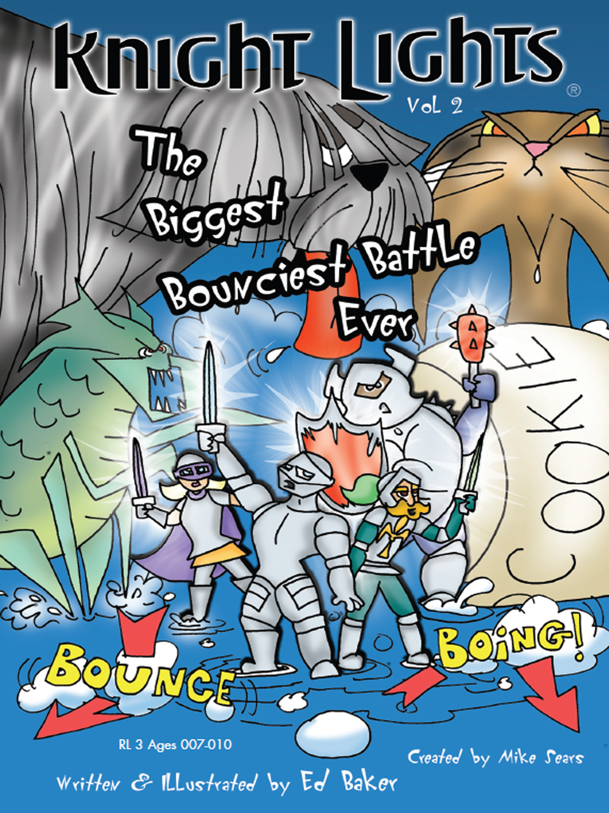 Cover of Knight Lights Vol 2: The Biggest Bounciest Battle Ever