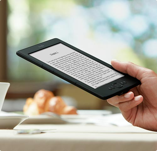 One of the Kindle e-ink readers